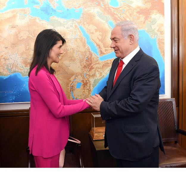 2017-06-09_Nikki Haley Benjamin Netanjahu
