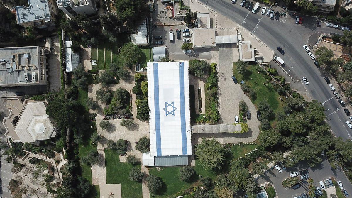 Luftbild vom Präsidentenpalast.