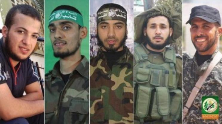 Diese fünf Hamas-Kämpfer wurden erschossen.