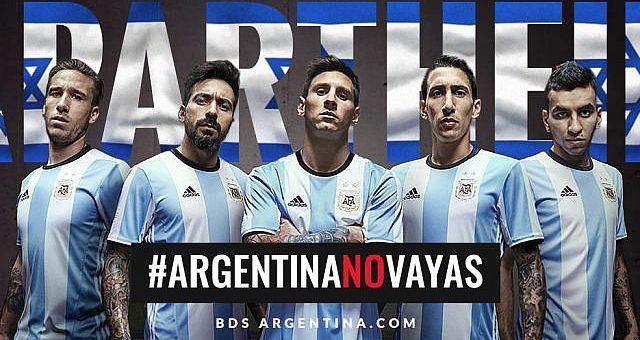 Die Stars aus Argentinien kicken nicht in Israel.