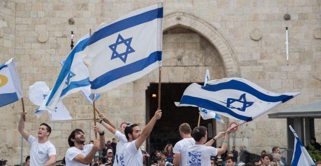Juden feiern Israel.
