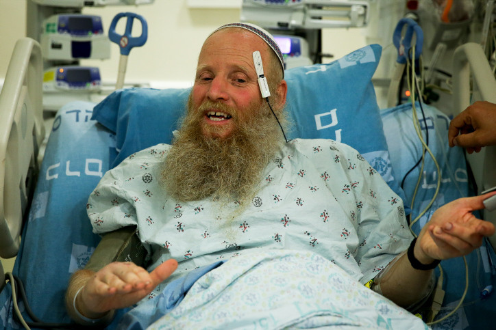 Interview am Krankenbett: Rabbiner Eitan Shnerb.
